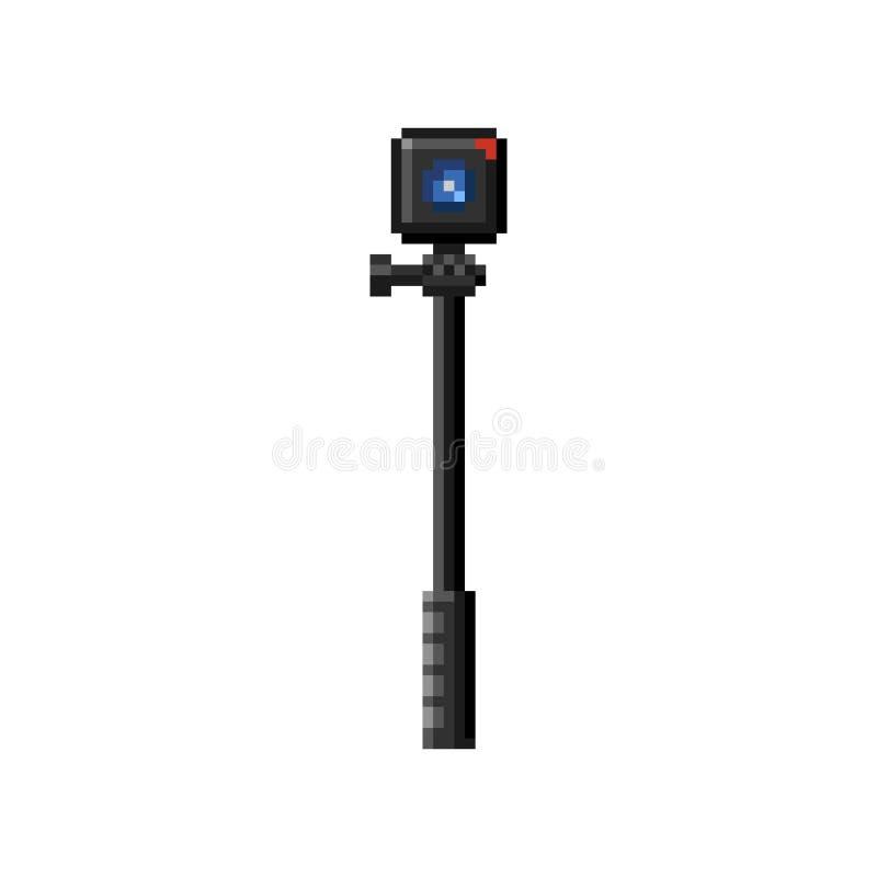 Iconos de la cámara de la acción Arte del pixel foto de archivo