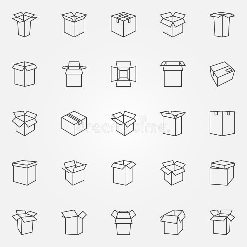 Iconos de la caja fijados libre illustration