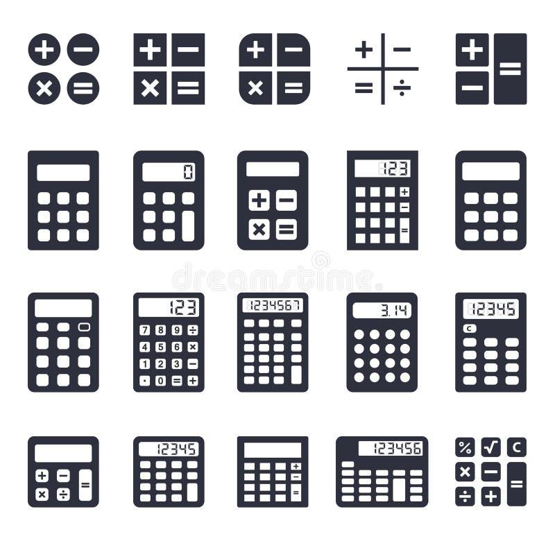 Iconos de la calculadora fijados libre illustration
