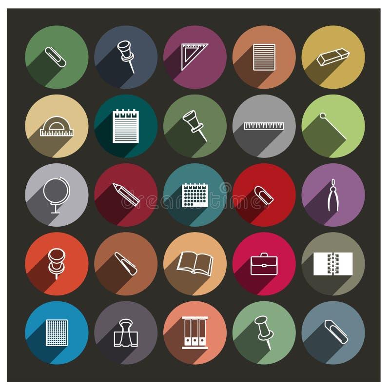 Iconos de la cancillería, ejemplo del vector stock de ilustración