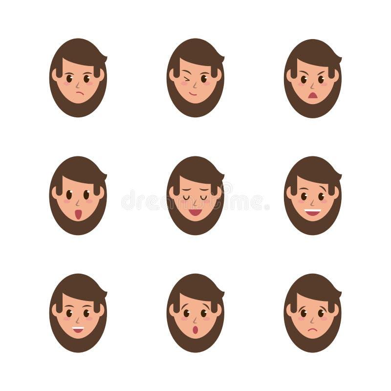 Iconos de la cara de la mujer libre illustration