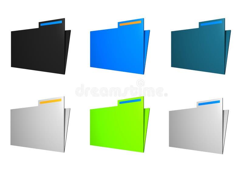 Iconos de la carpeta ilustración del vector