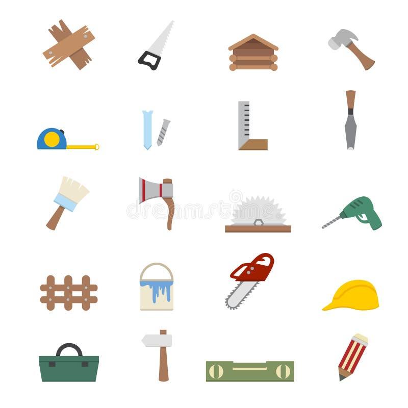 Download Iconos de la carpintería ilustración del vector. Ilustración de carpintería - 42434330