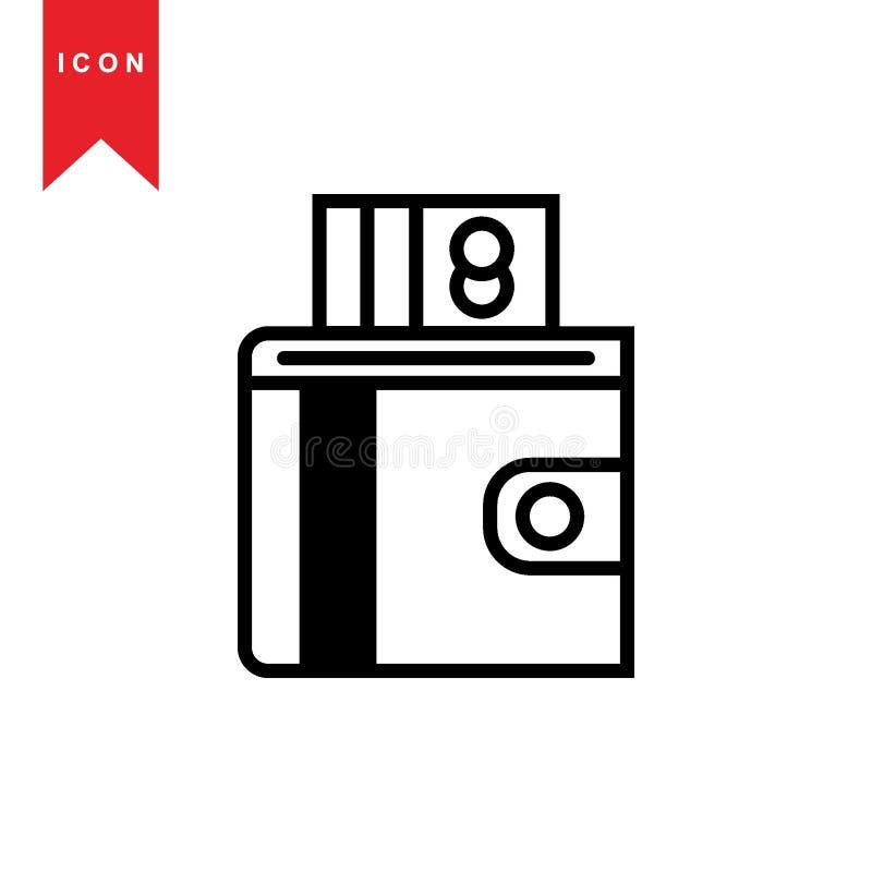 Iconos de la cartera libre illustration