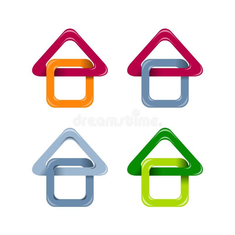 Iconos de la casa ilustración del vector