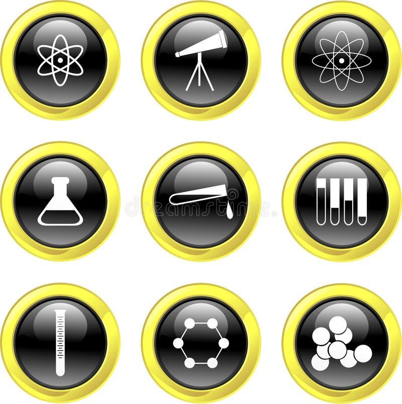 Iconos de la ciencia ilustración del vector