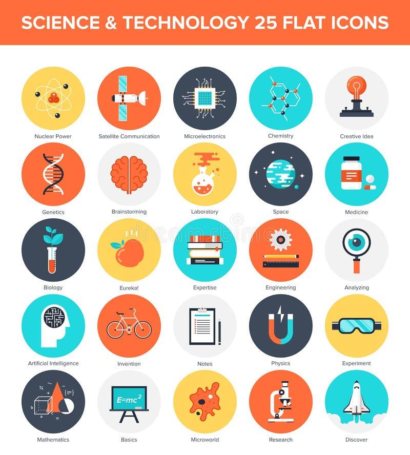 Iconos de la ciencia libre illustration