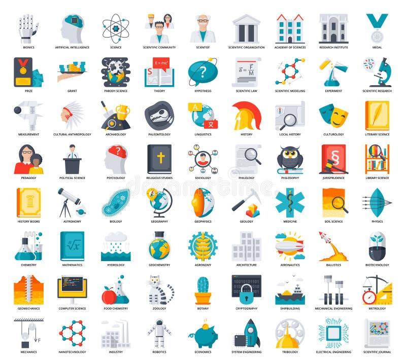 Iconos de la ciencia fijados libre illustration
