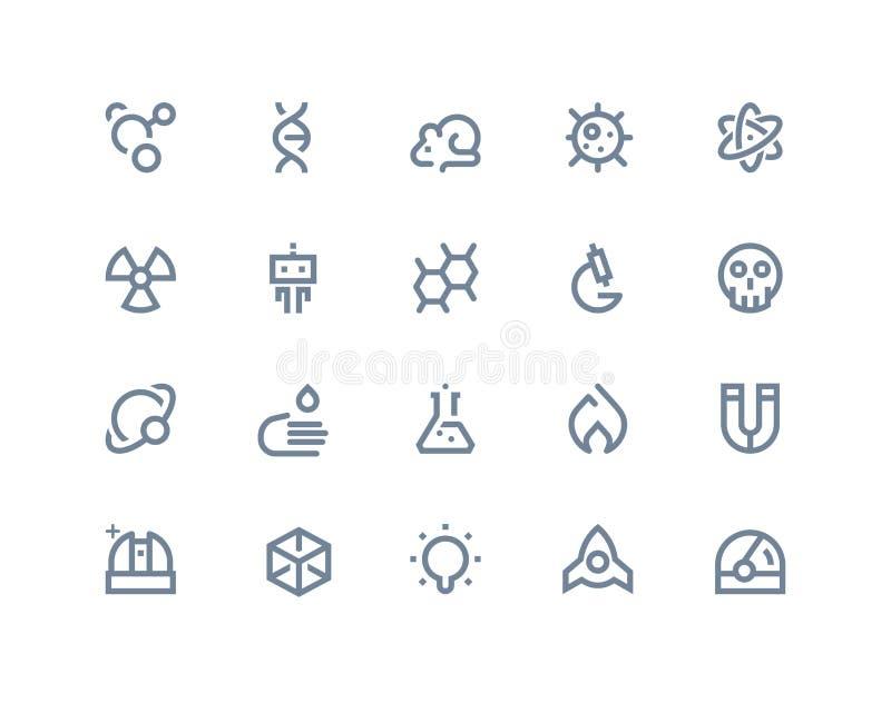 Iconos de la ciencia Línea serie libre illustration