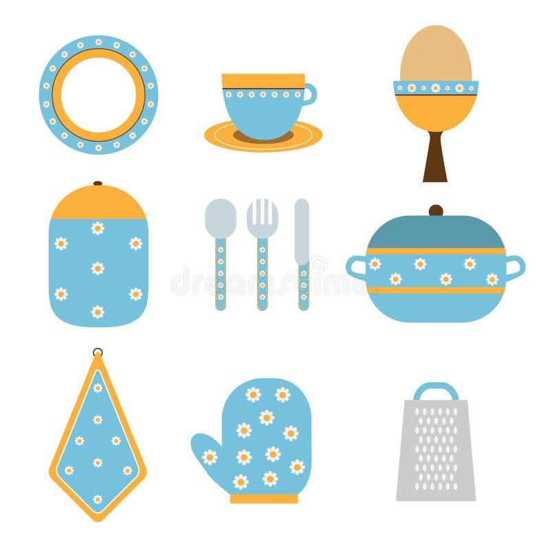 Iconos de la cocina ilustración del vector
