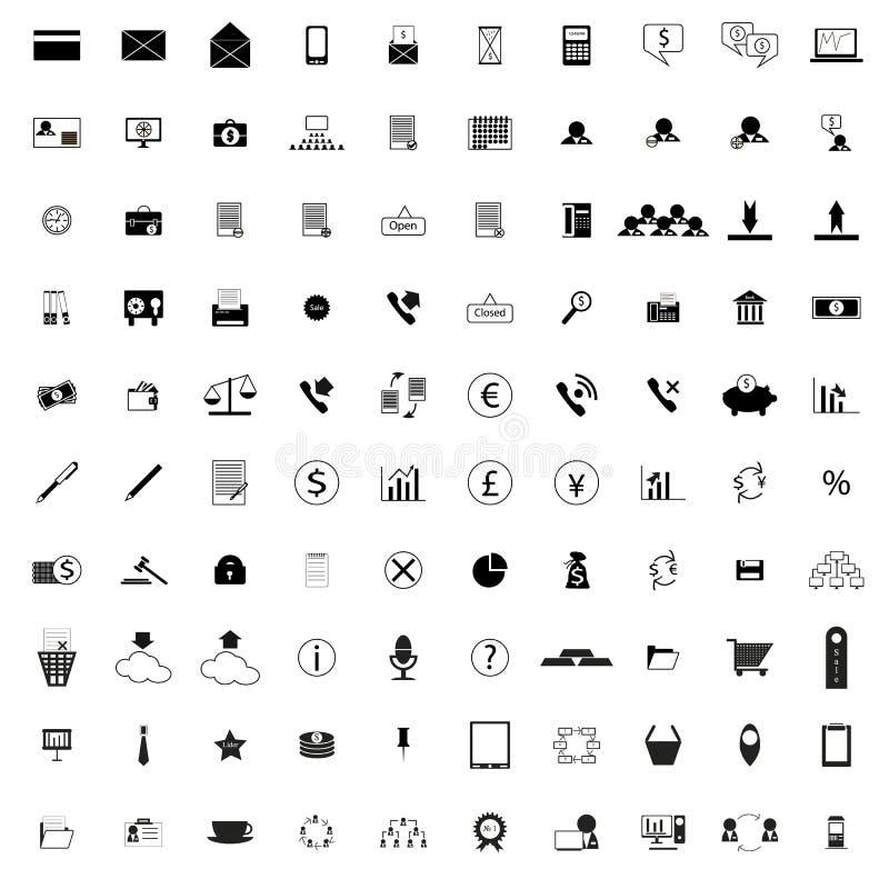 100 iconos de la compañía libre illustration