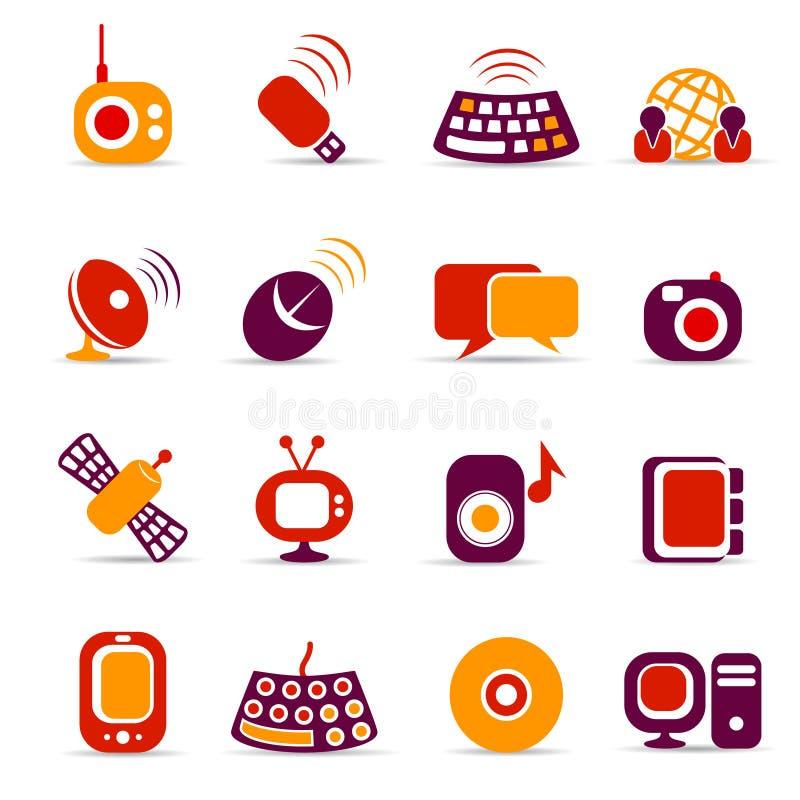 Iconos de la comunicación libre illustration