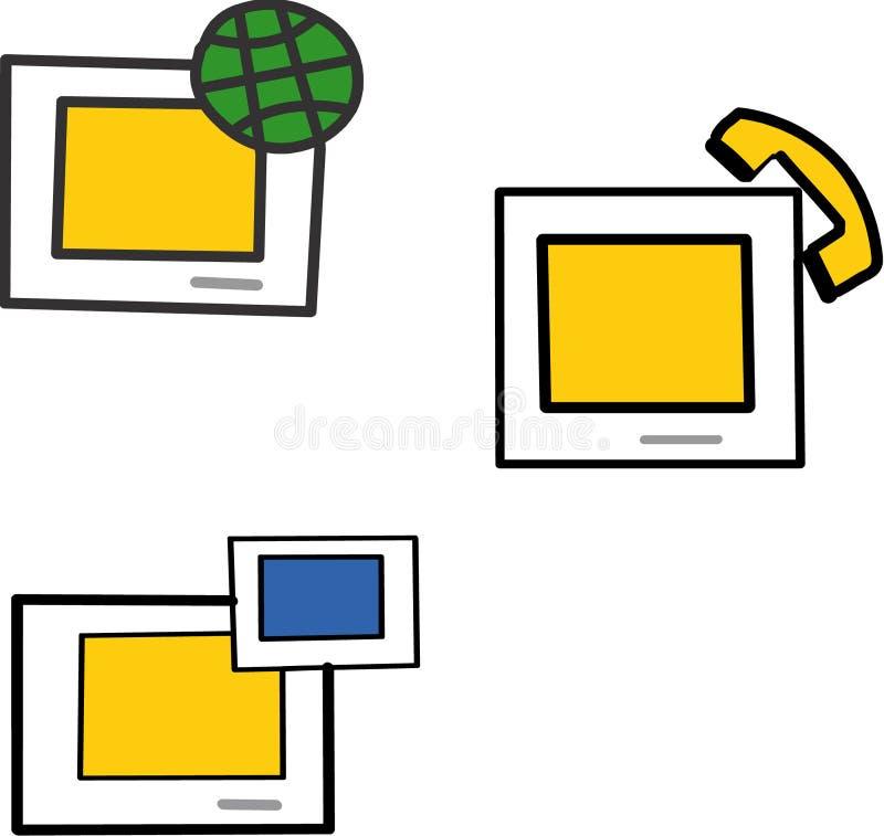 Download Iconos de la comunicación ilustración del vector. Ilustración de ilustrado - 7279286