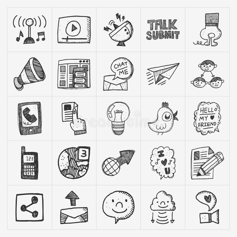 Download Iconos De La Comunicación Del Garabato Fijados Ilustración del Vector - Ilustración de internet, correo: 42432213