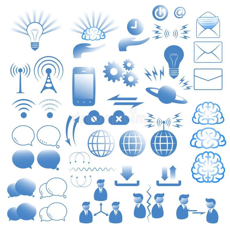 Iconos de la comunicación fijados libre illustration
