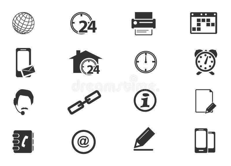 Iconos de la comunidad fijados ilustración del vector