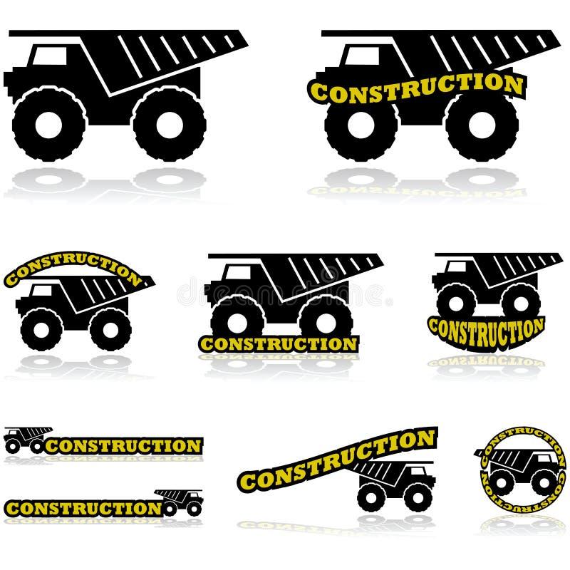 Iconos de la construcción ilustración del vector