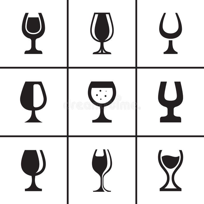 Iconos de la copa fijados ilustración del vector