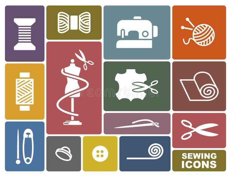 Iconos de la costura y de la costura libre illustration