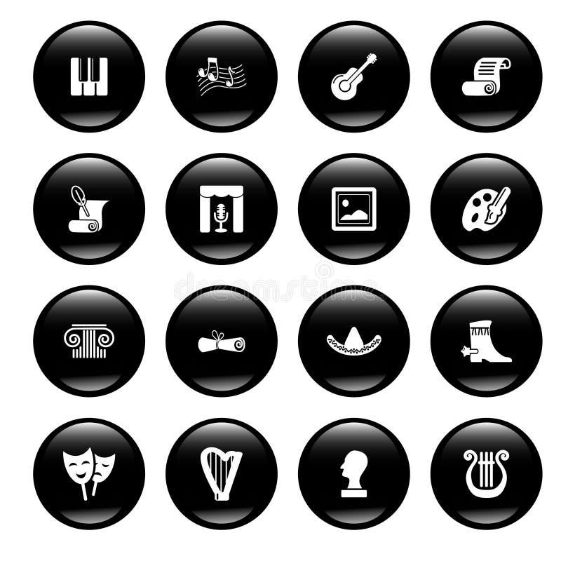 Iconos de la cultura stock de ilustración