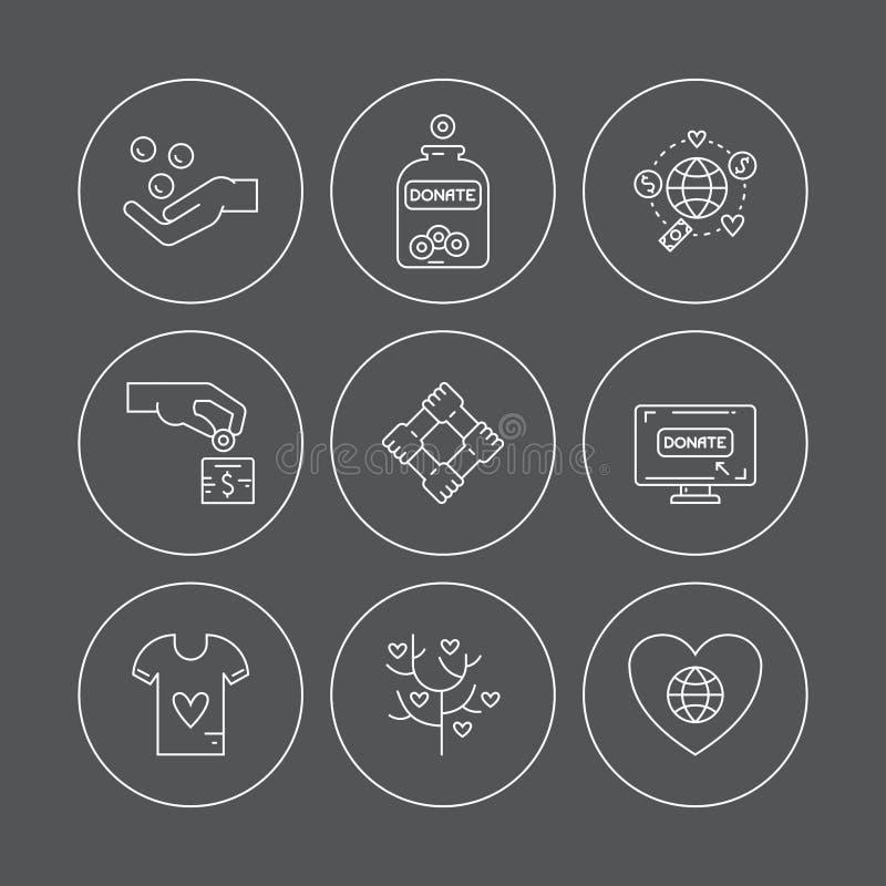 Iconos de la donación libre illustration