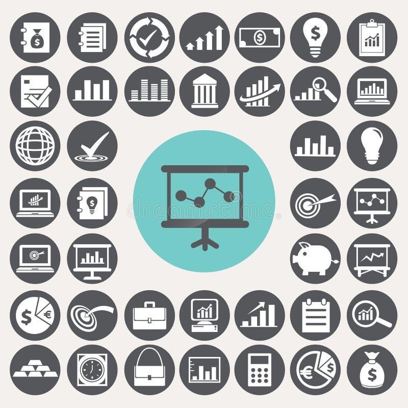 Iconos de la economía fijados libre illustration