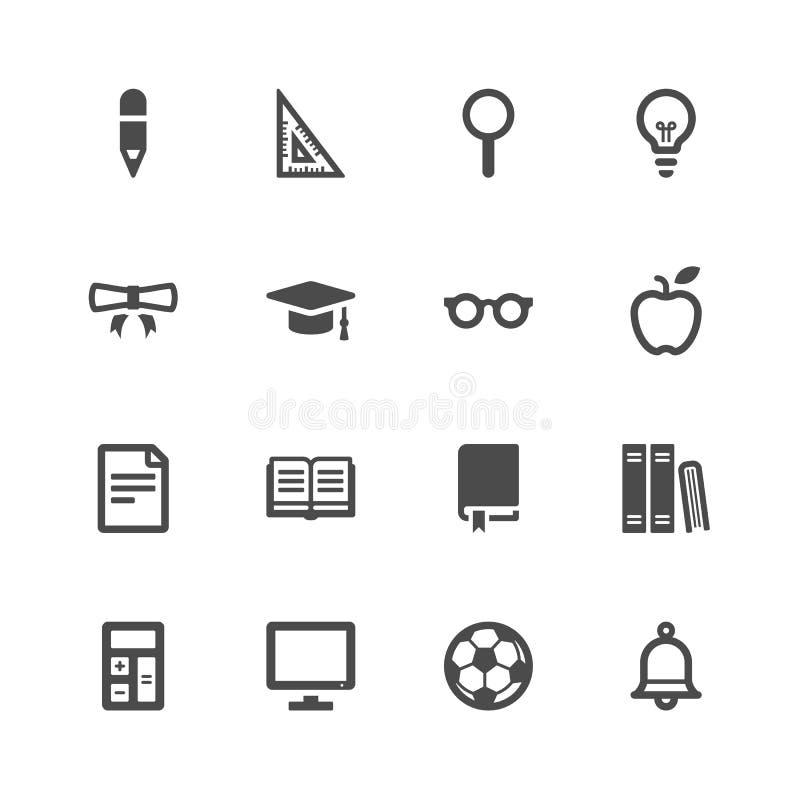 Iconos de la educación ilustración del vector