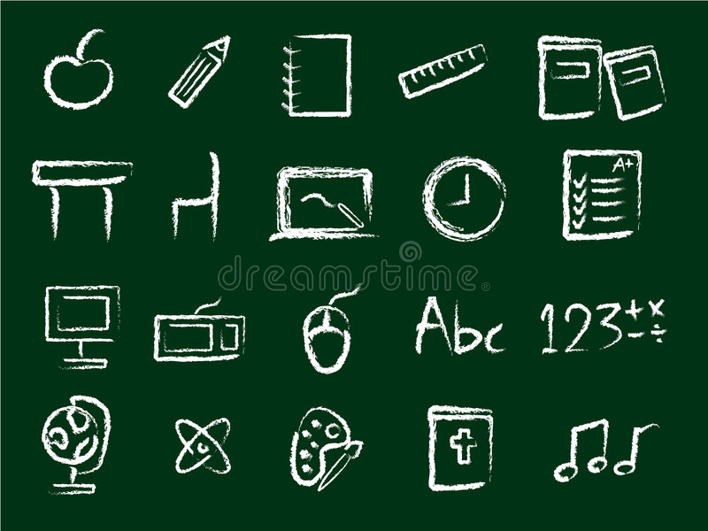 Iconos De La Educación Fotografía de archivo libre de regalías