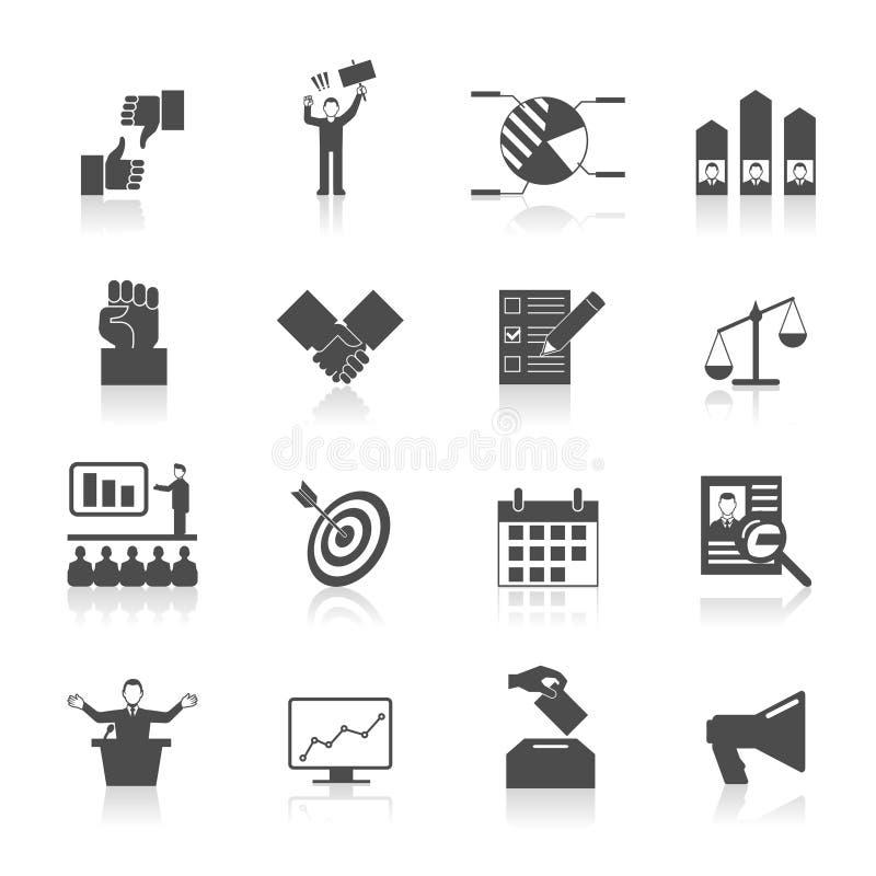 Iconos de la elección fijados libre illustration