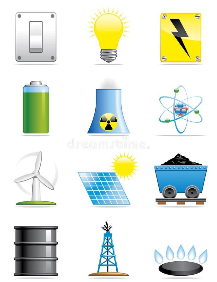Iconos de la energía libre illustration