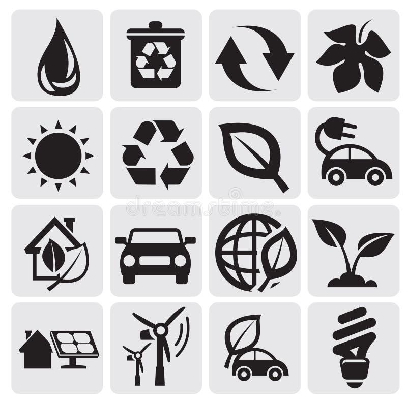Iconos De La Energía De Eco Imagenes de archivo