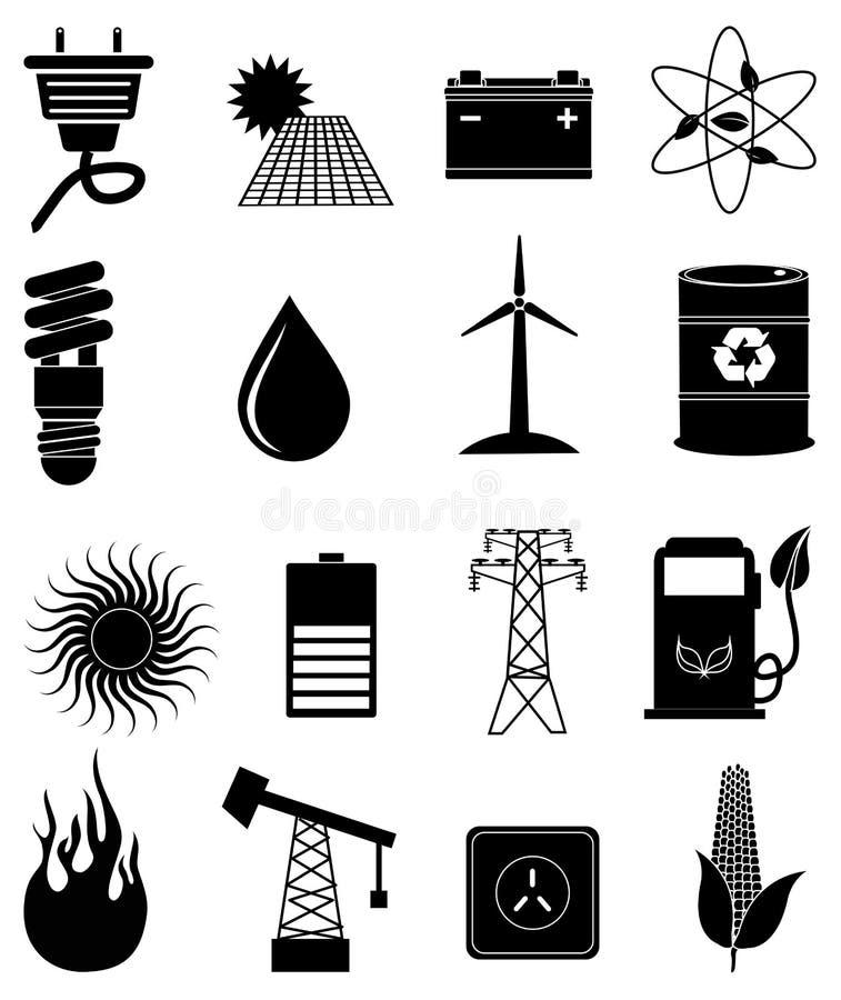 Iconos de la energía de Eco fijados libre illustration