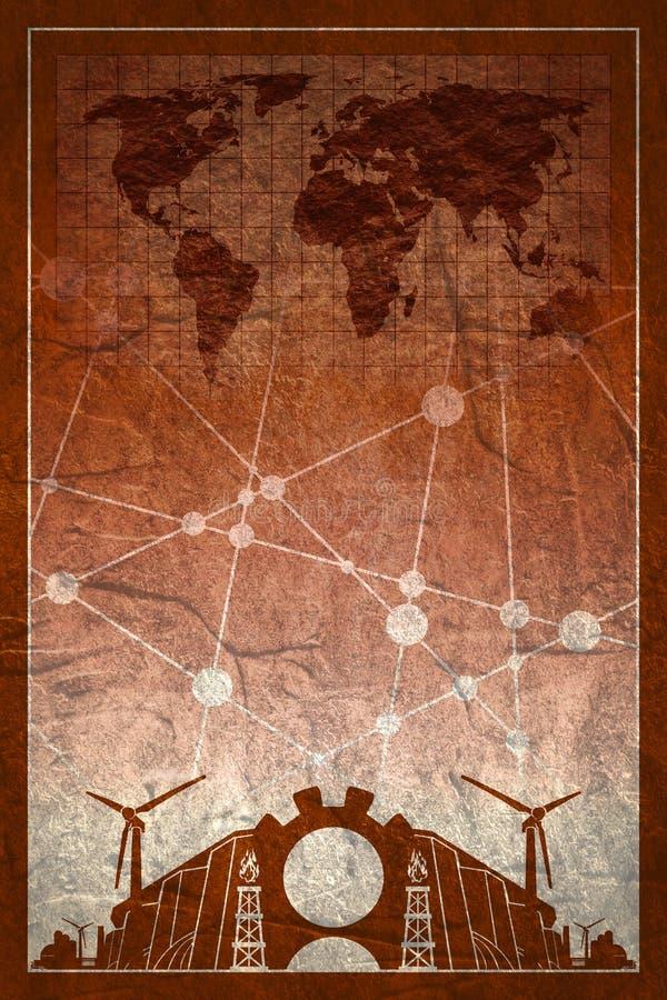 Iconos de la energía y del poder fijados Diseño del folleto stock de ilustración
