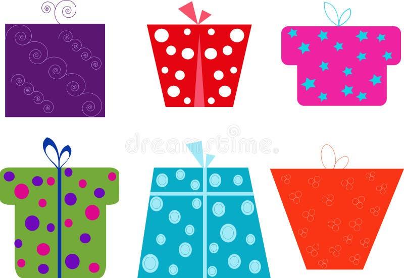 Iconos de la envoltura del regalo para los sitios web imágenes de archivo libres de regalías