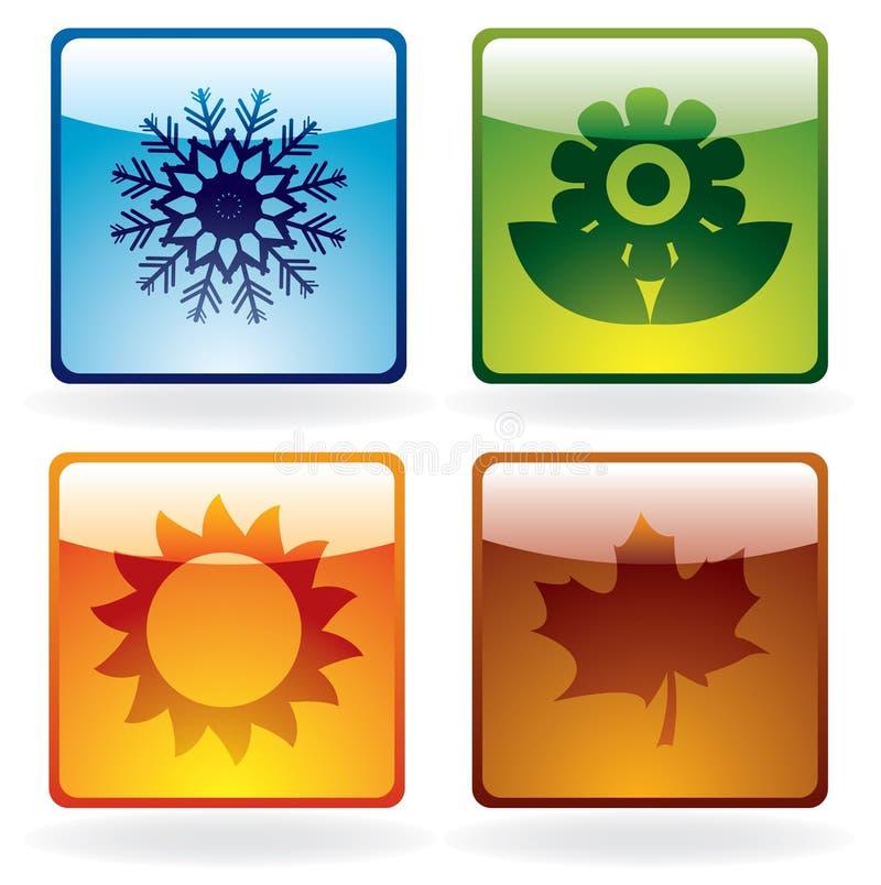 Iconos de la estación ilustración del vector