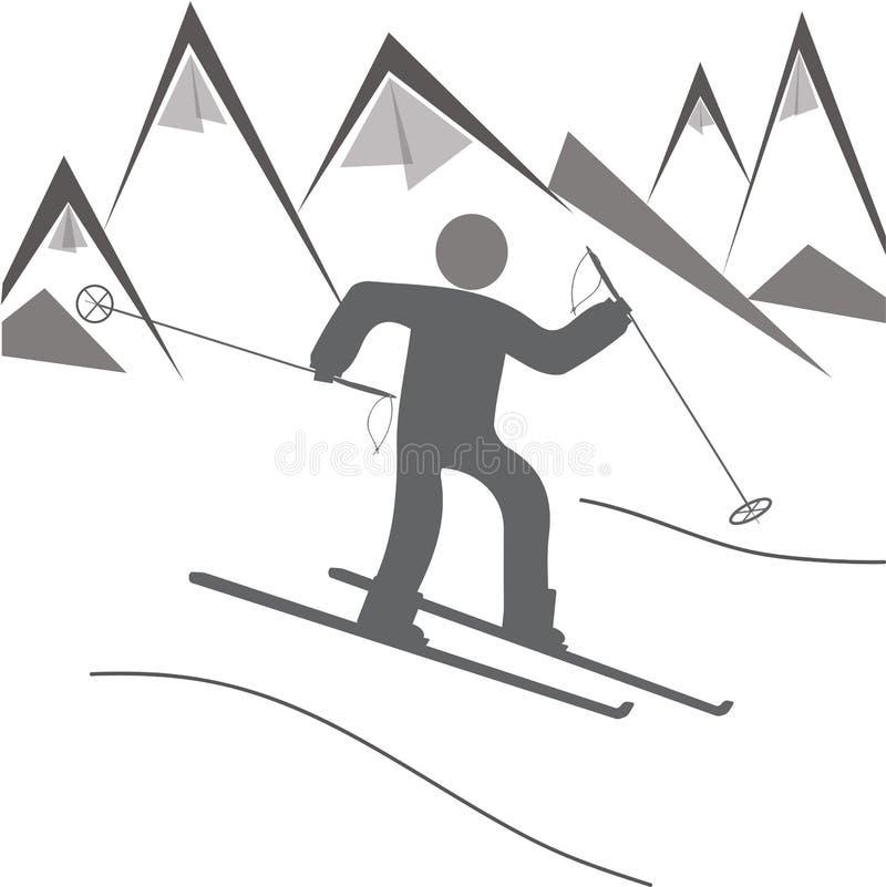 Iconos de la estación de esquí fotos de archivo