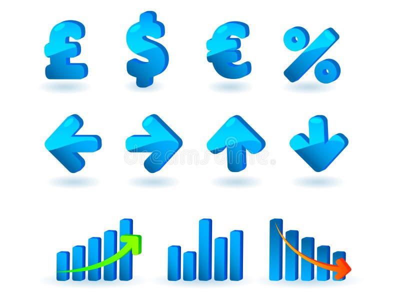 Iconos de la estadística fijados libre illustration