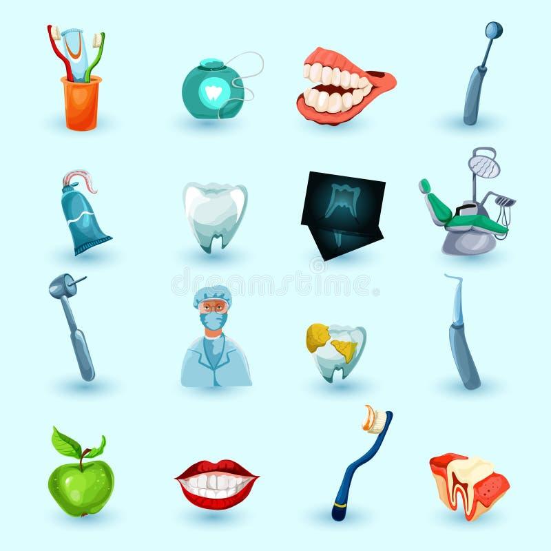 Iconos de la estomatología fijados libre illustration