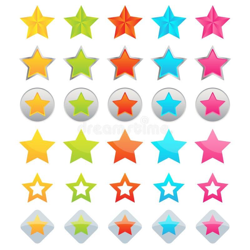 Iconos de la estrella stock de ilustración