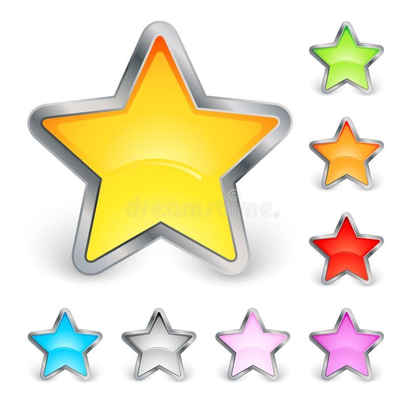 Iconos de la estrella ilustración del vector