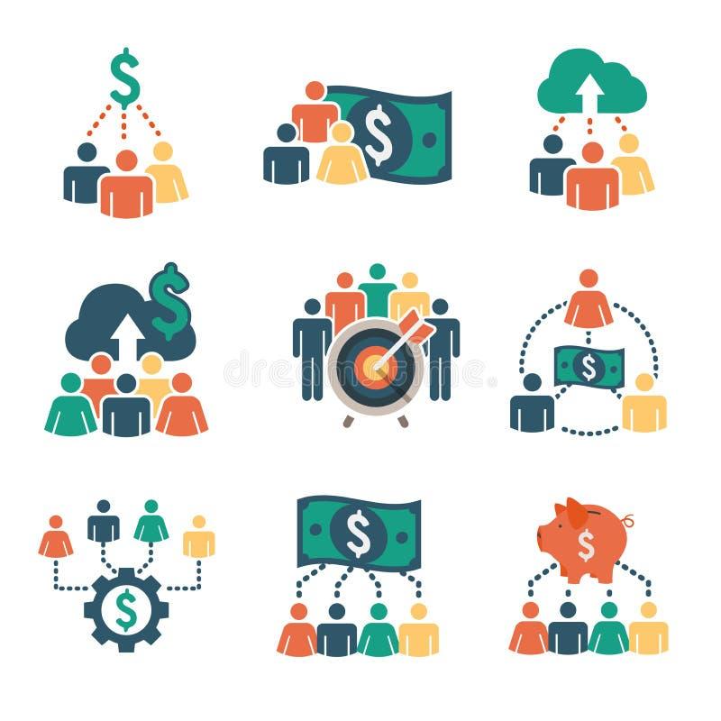 Iconos de la financiación stock de ilustración