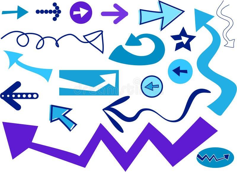 Iconos de la flecha libre illustration