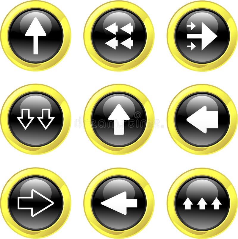 Iconos de la flecha stock de ilustración