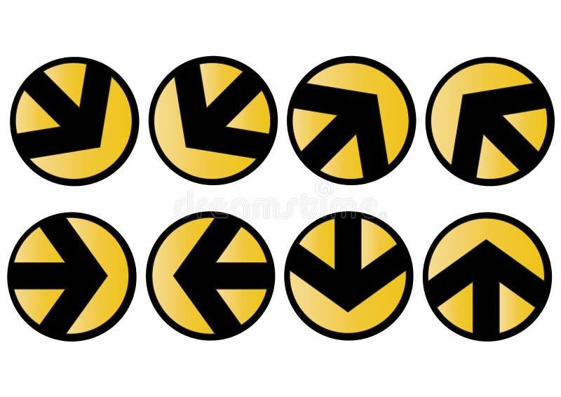 Iconos de la flecha del vector stock de ilustración