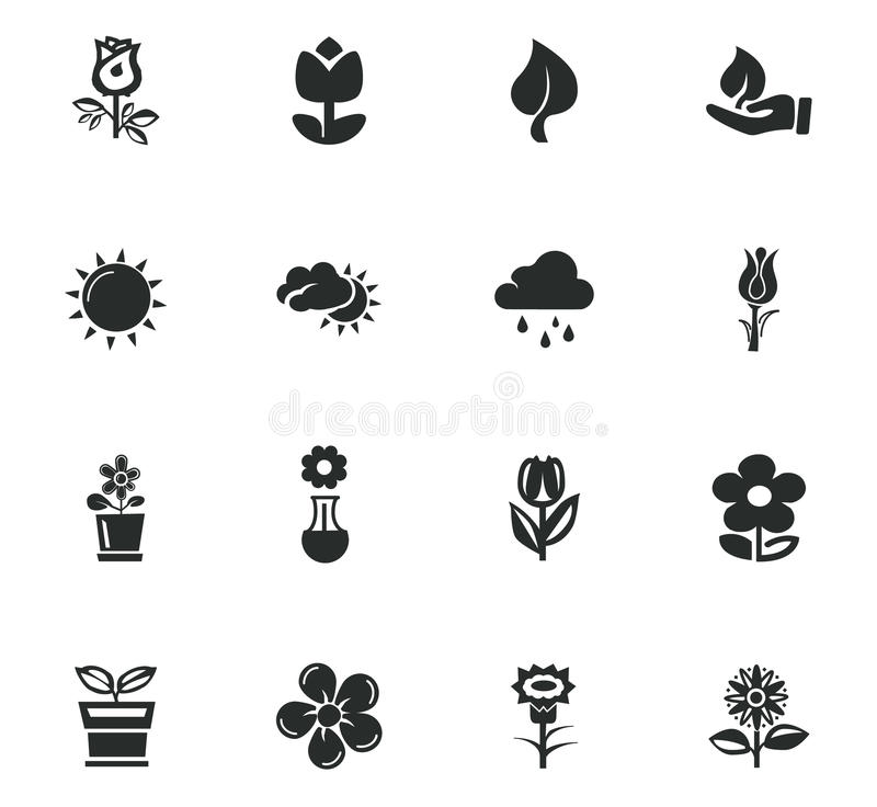 Iconos de la flor fijados libre illustration