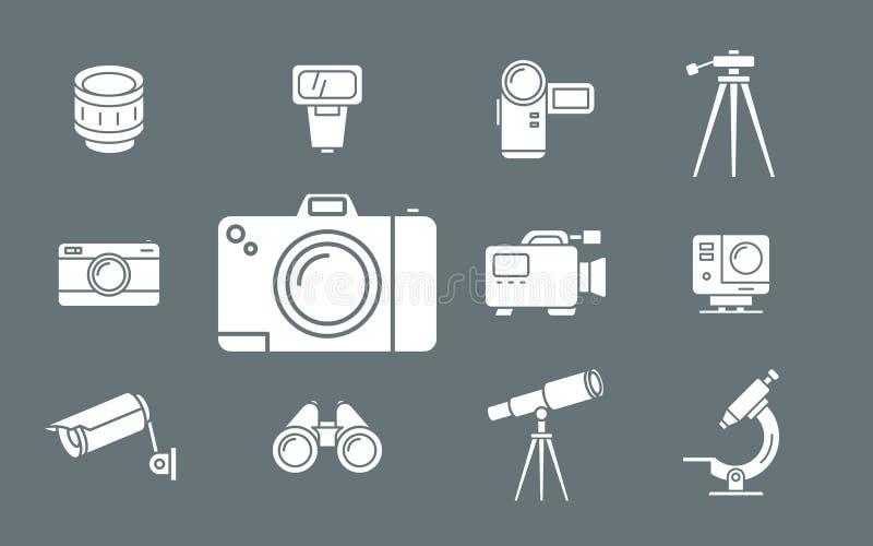 Iconos de la foto y del equipo de vídeo - web y móvil 02 del sistema libre illustration