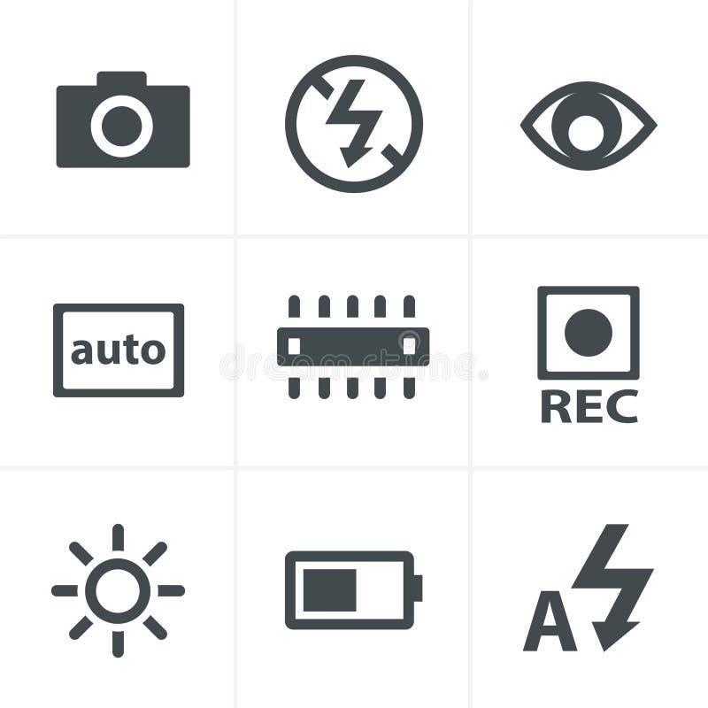 Iconos de la fotografía ilustración del vector