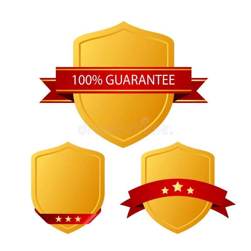 Iconos de la garantía stock de ilustración
