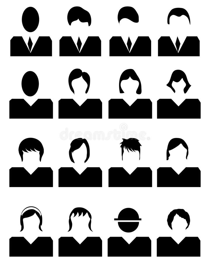 Iconos de la gente stock de ilustración