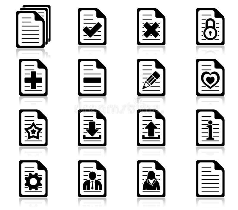 Iconos de la gerencia y de la administración de fichero ilustración del vector
